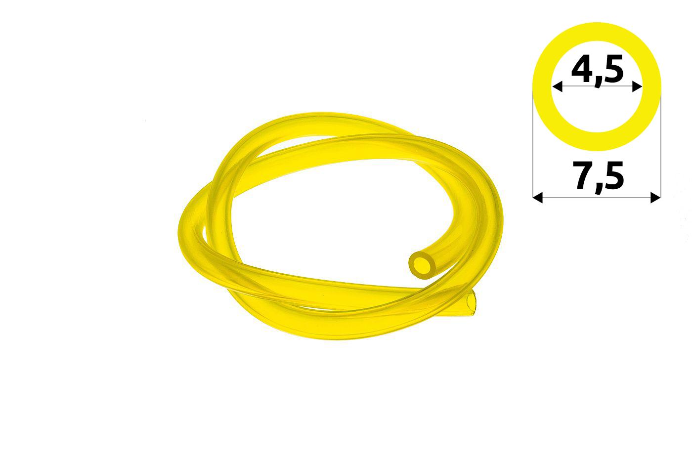 Palivová hadička 4,5 mm x 7,5 mm - 1 meter