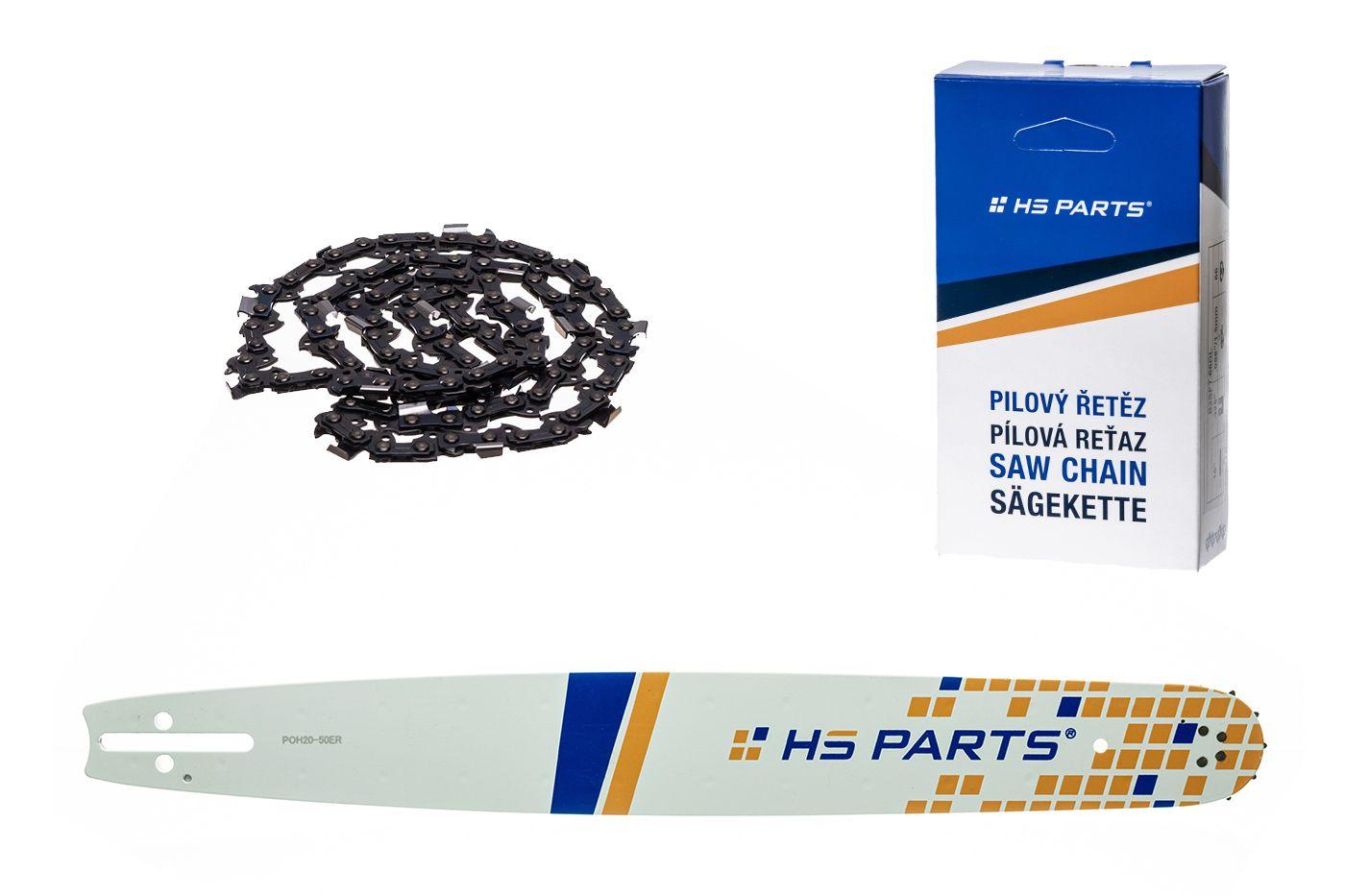 """HS PARTS Akčná súprava - vodiaca lišta 20"""" (50 cm) 3/8"""" .050"""" (1,3 mm) + pílový reťaz"""