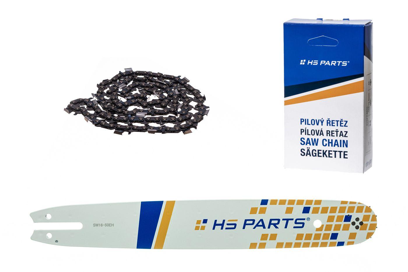 """HS PARTS Akčná súprava - vodiaca lišta 16"""" (40 cm) .325"""" .050"""" (1,3 mm) + pílový reťaz"""